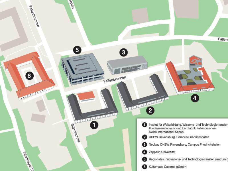 SMART City Hackathon Fallenbrunnen - Lageplan